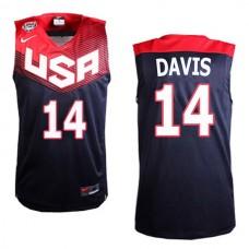 Anthony Davis USA #14 FIBA 2014 World Cup Black Swingman Jersey