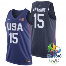 Carmelo Anthony USA Dream Twelve Team #15 2016 Rio Olympics Navy Jersey