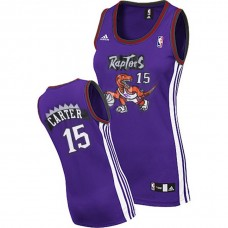 Women's Vince Carter Toronto Raptors #15 Purple Jersey