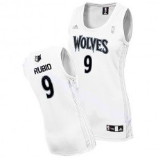 Women's Ricky Rubio Wolves #9 Revolution 30 Swingman White Jersey