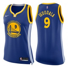 Women's 2017-18 Season Andre Iguodala Golden State Warriors #9 Icon Blue Swingman Jersey