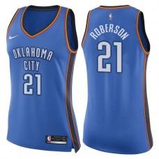 Women's 2017-18 Season Andre Roberson Oklahoma City Thunder #21 Icon Blue Swingman Jersey
