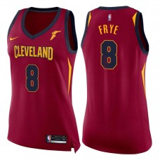 Women's 2017-18 Season Channing Frye Cleveland Cavaliers #8 Icon Wine Swingman Jersey
