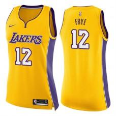 Women's 2017-18 Season Channing Frye Los Angeles Lakers #12 Icon Gold Swingman Jersey