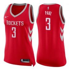 Women's 2017-18 Season Chris Paul Houston Rockets #3 Icon Red Swingman Jersey