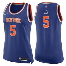 Women's 2017-18 Season Courtney Lee New York Knicks #5 Icon Blue Swingman Jersey
