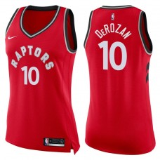 Women's 2017-18 Season DeMar DeRozan Toronto Raptors #10 Icon Red Swingman Jersey