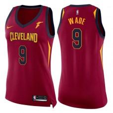 Women's 2017-18 Season Dwyane Wade Cleveland Cavaliers #9 Icon Wine Swingman Jersey