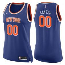 Women's 2017-18 Season Enes Kanter New York Knicks #00 Icon Blue Swingman Jersey