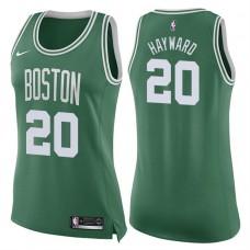 Women's 2017-18 Season Gordon Hayward Boston Celtics #20 Icon Green Swingman Jersey