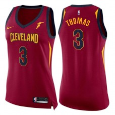 Women's 2017-18 Season Isaiah Thomas Cleveland Cavaliers #3 Icon Wine Swingman Jersey
