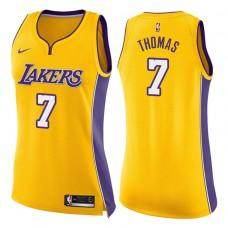 Women's 2017-18 Season Isaiah Thomas Los Angeles Lakers #7 Icon Gold Swingman Jersey