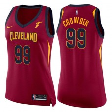 Women's 2017-18 Season Jae Crowder Cleveland Cavaliers #99 Icon Wine Swingman Jersey