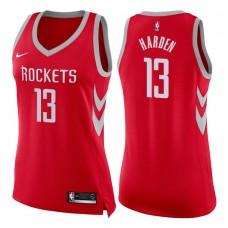 Women's 2017-18 Season James Harden Houston Rockets #13 Icon Red Swingman Jersey