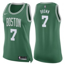 Women's 2017-18 Season Jaylen Brown Boston Celtics #7 Icon Green Swingman Jersey