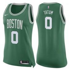 Women's 2017-18 Season Jayson Tatum Boston Celtics #0 Icon Green Swingman Jersey