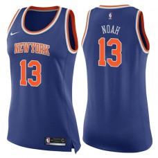 Women's 2017-18 Season Joakim Noah New York Knicks #13 Icon Blue Swingman Jersey