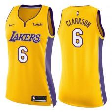 Women's 2017-18 Season Jordan Clarkson Los Angeles Lakers #6 Icon Yellow Swingman Jersey