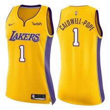 Women's 2017-18 Season Kentavious Caldwell-Pope Los Angeles Lakers #1 Icon Yellow Swingman Jersey