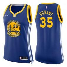 Women's 2017-18 Season Kevin Durant Golden State Warriors #35 Icon Blue Swingman Jersey