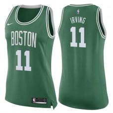 Women's 2017-18 Season Kyrie Irving Boston Celtics #11 Icon Green Swingman Jersey