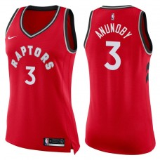 Women's 2017-18 Season OG Anunoby Toronto Raptors #3 Icon Red Swingman Jersey
