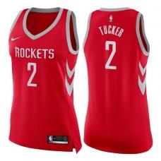 Women's 2017-18 Season P.J. Tucker Houston Rockets #2 Icon Red Swingman Jersey