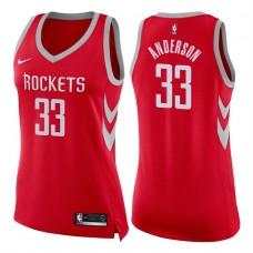 Women's 2017-18 Season Ryan Anderson Houston Rockets #33 Icon Red Swingman Jersey
