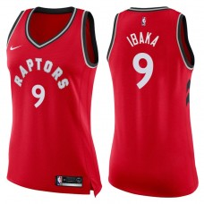Women's 2017-18 Season Serge Ibaka Toronto Raptors #9 Icon Red Swingman Jersey