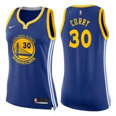 Women's 2017-18 Season Stephen Curry Golden State Warriors #30 Icon Blue Swingman Jersey