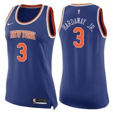 Women's 2017-18 Season Tim Hardaway Jr. New York Knicks #3 Icon Blue Swingman Jersey