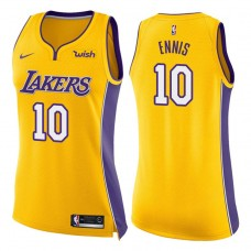 Women's 2017-18 Season Tyler Ennis Los Angeles Lakers #10 Icon Yellow Swingman Jersey