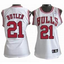 Women's Chicago Bulls Jimmy Butler #21 White Jersey