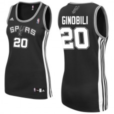 Women's Manu Ginobili San Antonio Spurs #20 Black Jersey