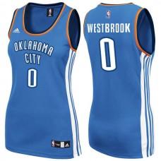 Women's Womens Oklahoma City Thunder #0 Russell Westbrook New Swingman Fashion Blue Jersey
