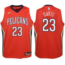 Youth 2017-18 Season Anthony Davis New Orleans Pelicans #23 Icon Red Swingman Jersey