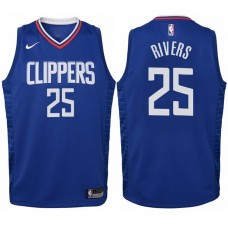 Youth 2017-18 Season Austin Rivers Los Angeles Clippers #25 Icon Blue Swingman Jersey