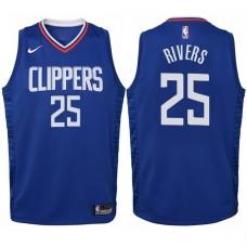Youth 2017-18 Season Austin Rivers Los Angeles Clippers #25 Icon Blue Swingman Jersey