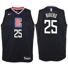 Youth 2017-18 Season Austin Rivers Los Angeles Clippers #25 Statement Black Swingman Jersey