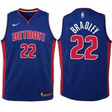 Youth 2017-18 Season Avery Bradley Detroit Pistons #22 Icon Blue Swingman Jersey
