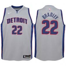 Youth 2017-18 Season Avery Bradley Detroit Pistons #22 Statement Gray Swingman Jersey