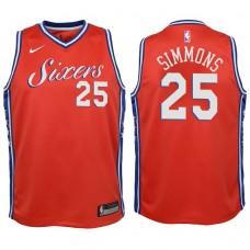 Youth 2017-18 Season Ben Simmons Philadelphia 76ers #25 Statement Red Swingman Jersey
