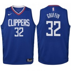Youth 2017-18 Season Blake Griffin Los Angeles Clippers #32 Icon Blue Swingman Jersey