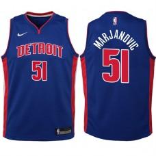 Youth 2017-18 Season Boban Marjanovic Detroit Pistons #51 Icon Blue Swingman Jersey