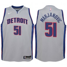 Youth 2017-18 Season Boban Marjanovic Detroit Pistons #51 Statement Gray Swingman Jersey