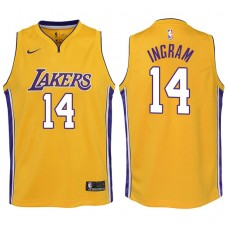 Youth 2017-18 Season Brandon Ingram Los Angeles Lakers #14 Icon Yellow Swingman Jersey