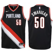 Youth 2017-18 Season Caleb Swanigan Portland Trail Blazers #50 Icon Black Swingman Jersey