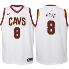 Youth 2017-18 Season Channing Frye Cleveland Cavaliers #8 Association White Swingman Jersey