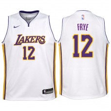 Youth 2017-18 Season Channing Frye Los Angeles Lakers #12 Association White Swingman Jersey