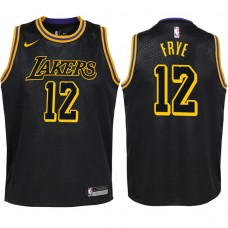Youth 2017-18 Season Channing Frye Los Angeles Lakers #12 City Edition Black Swingman Jersey